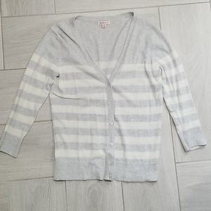 Merona • Striped Cardigan, Size Medium
